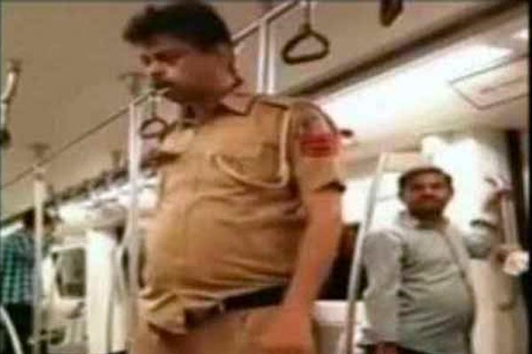 The viral video: Drunk cop in Delhi metro – a shameful act