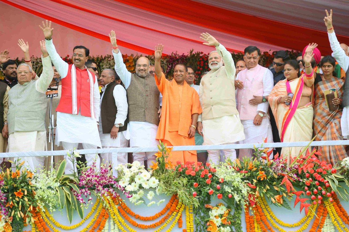 PM Narendra Modi greets Yogi Adityanath, hopes record development in Uttar Pradesh