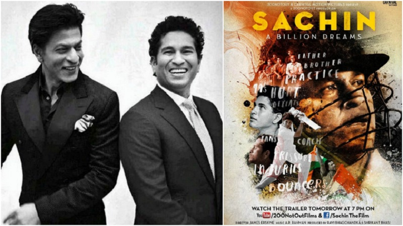 """Shah Rukh Khan wished Sachin good luck for the film, and called him his """"guiding light"""""""