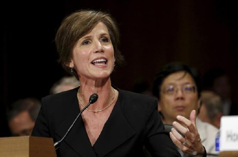 Former US acting Attorney General Sally Yates said that she had alerted the White House