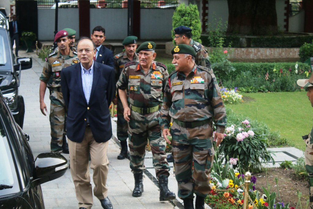 Defence Minister Arun Jaitley, Army chief Bipin Rawat review security in Jammu and Kashmir