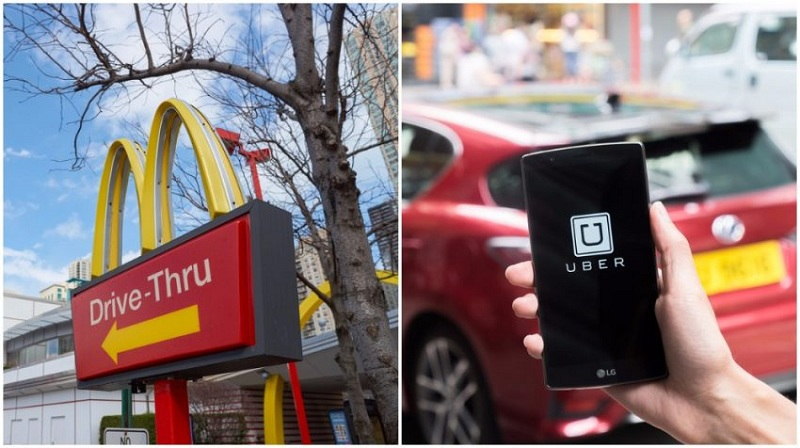 McDonald's announced of collaborating with ride-hailing app Uber