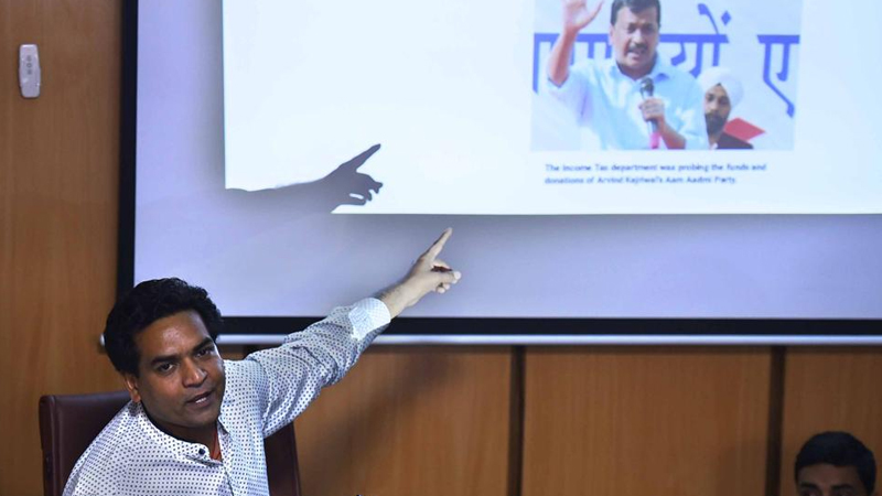 Kapil Mishra alleges hawala connection with Kejriwal, AAP refutes
