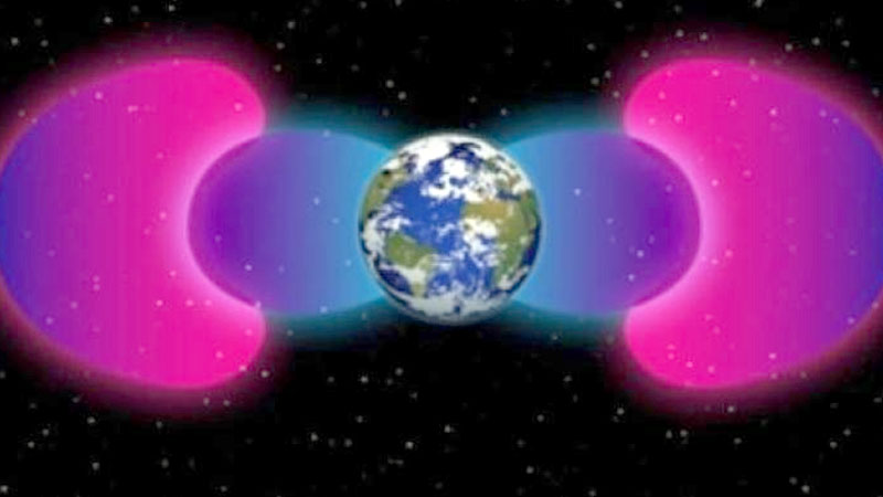 Man-made barrier around Earth prevents plan high-energy space radiation