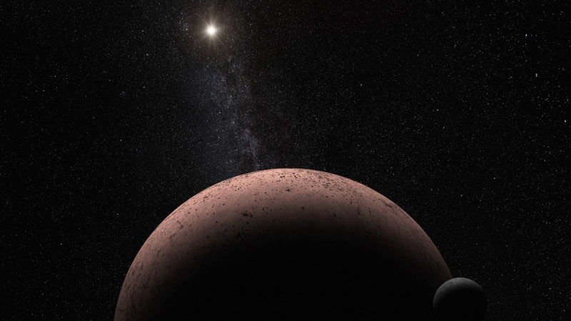 NASA's Hubble telescope, astronomers spot moon orbiting around dwarf planet in frigid outskirts of solar system