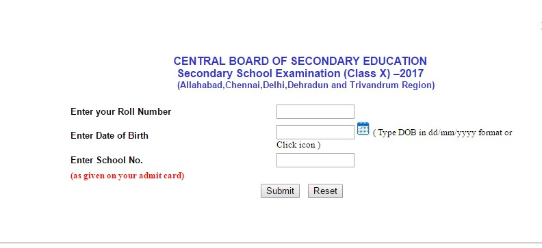 CBSE Board Class 10th Exam Results 2017 announced at cbseresults.nic.in; Check here results