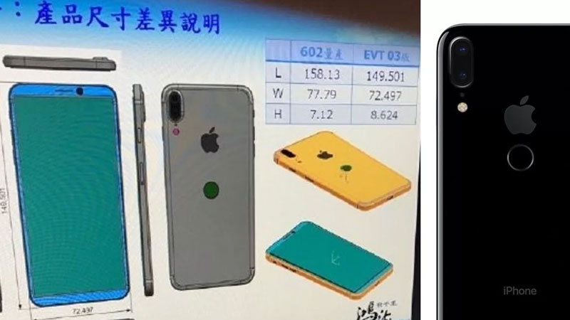 Leaked: iPhone 8 with large all-display front, rear Touch ID