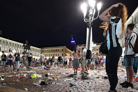 UEFA Champions League final: Over 400 of Juventus fans injured in stampede in Turin