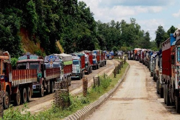 Mizoram remained cut off from the rest of the country by road