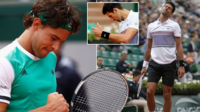 Thiem upsets Djokovic; sets date with Nadal in French Open semis