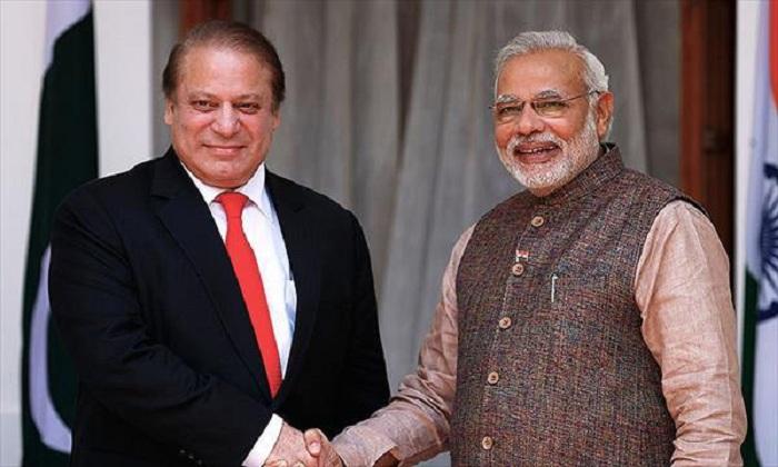 Prime Minister Narendra Modi met his Pakistani counterpart Nawaz Sharif
