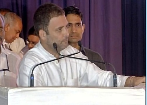 National Herald re-launch: Narendra Modi Government forcing everyone into silence, says Rahul Gandhi (Image: ANI)