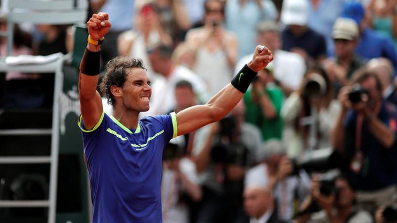 Rafael Nadal first player to win 10 Grand Slam titles