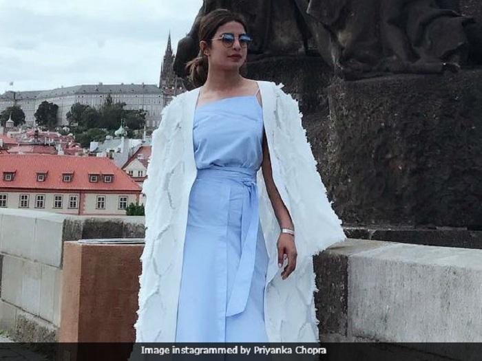 Priyanka Chopra recently spotted in Prague