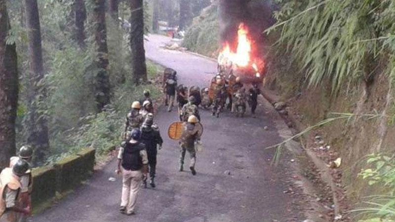 Protest in Darjeeling