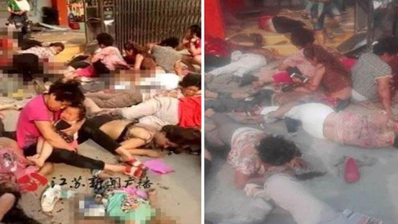 China kindergarten explosion: Women, children injured