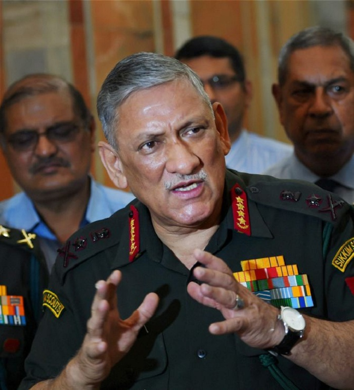 Army Chief Gen. Bipin Rawat said the use of the human shield in Kashmir was circumstances-based