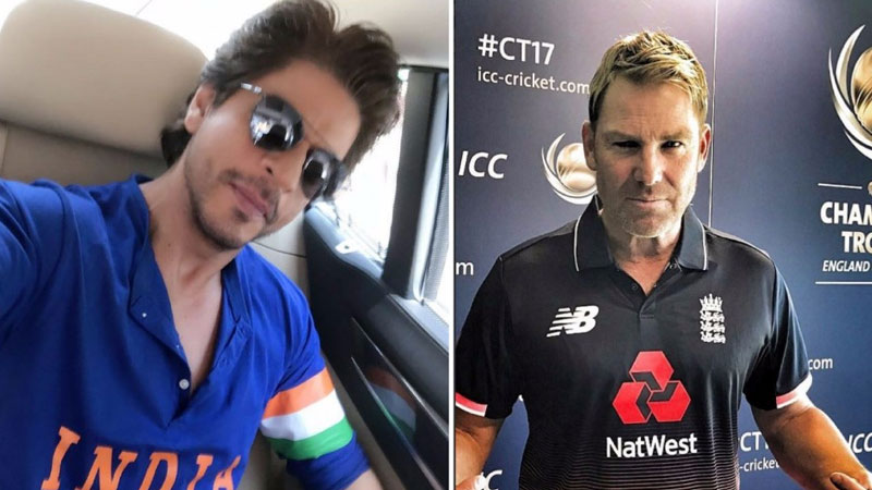 Shah Rukh, Shane Warne exchange tweets at Champions Trophy final