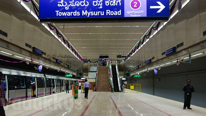 Thousands of commuters, including government employees and techies, on Monday, boarded the new metro line