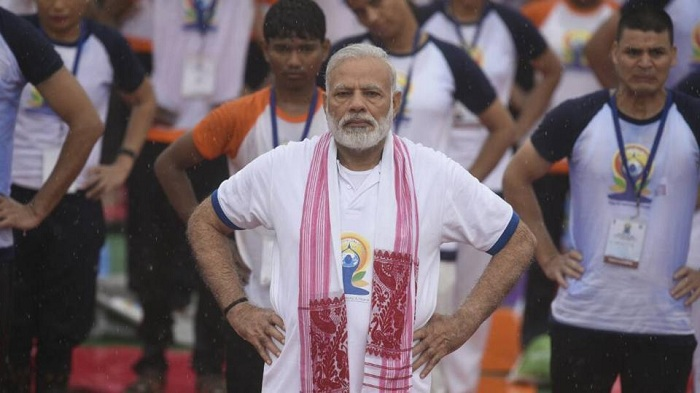 Narendra Modi likened yoga to salt to harp on its significance