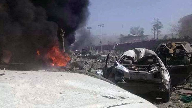 Car Bomb attack at Afghan Bank