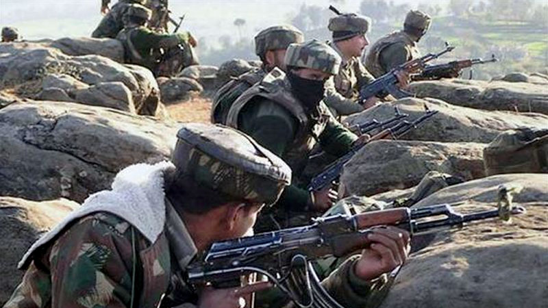 Indian Soldiers across Line of Control