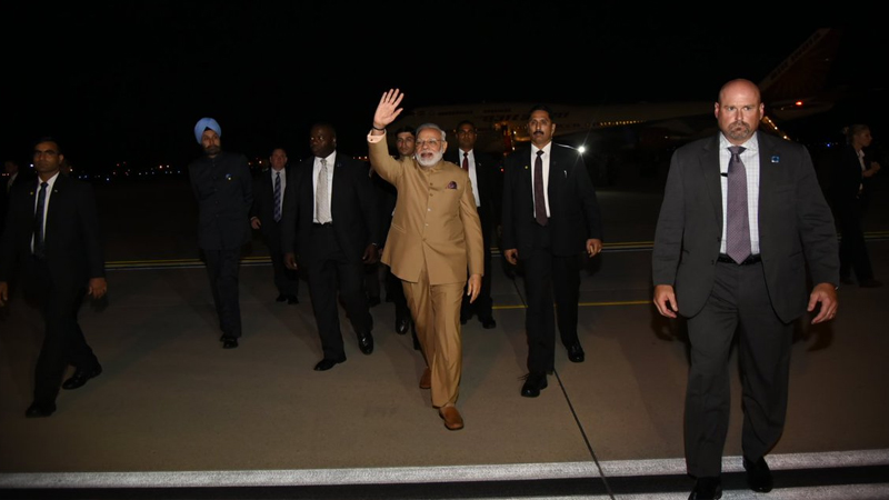 PM Narendra Modi arrives in US for first face-to-face talks with President Donald Trump
