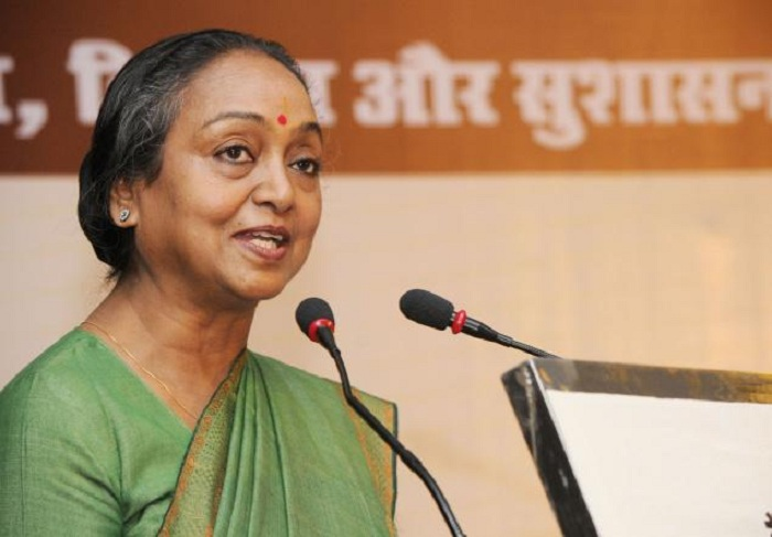 Opposition candidate Meira Kumar wondered why caste should be an issue in the Presidential election
