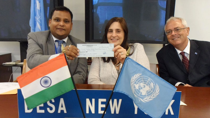 India contributes USD 100000 to United Nation