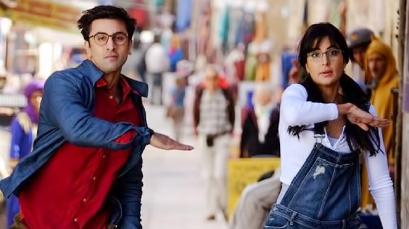 Ranbir Kapoor and Katrina Kaif in the movie Jagga Jasoos