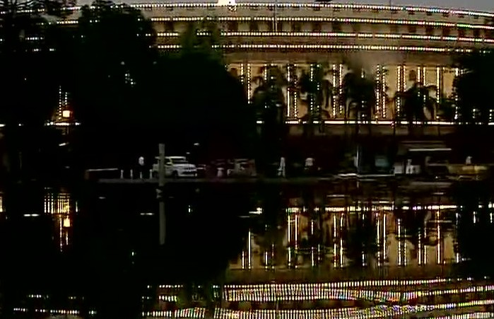 Parliament decked up for GST rollout in India