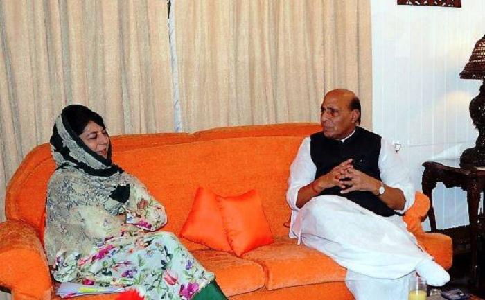 Jammu and Kashmir Chief Minister Mehbooba Mufti met Union Home Minister Rajnath Singh