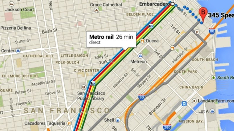 Know best time of day to travel via Google Maps