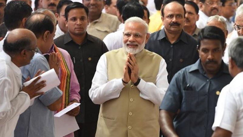 Parliament Monsoon Session: PM Modi walks upto Oppn, greets Sonia Gandhi
