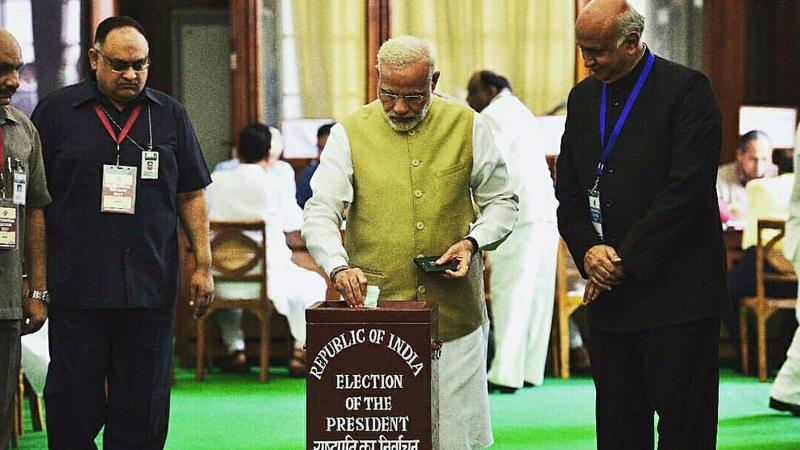 14th President of India: PM Modi, Amit Shah cast votes