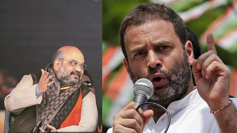Amit Shah promises Congress-mukt Karnataka, Rahul Gandhi says his party will win