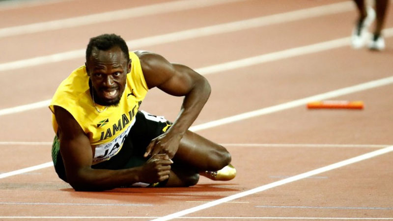 Usain Bolt injured in last race of his career
