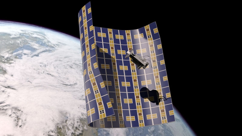 Super thin spacecraft to collect and destroy space junk