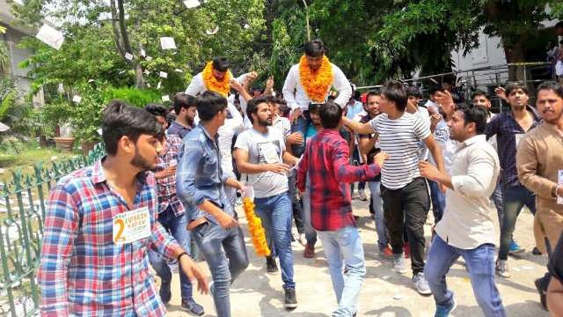 DUSU Election Results 2017: NSUI wins three out of four top positions
