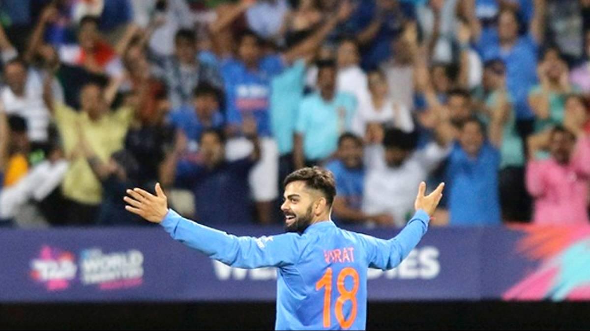 Watch: Virat Kohli dances with Anil Kapoor during semi final against West Indies