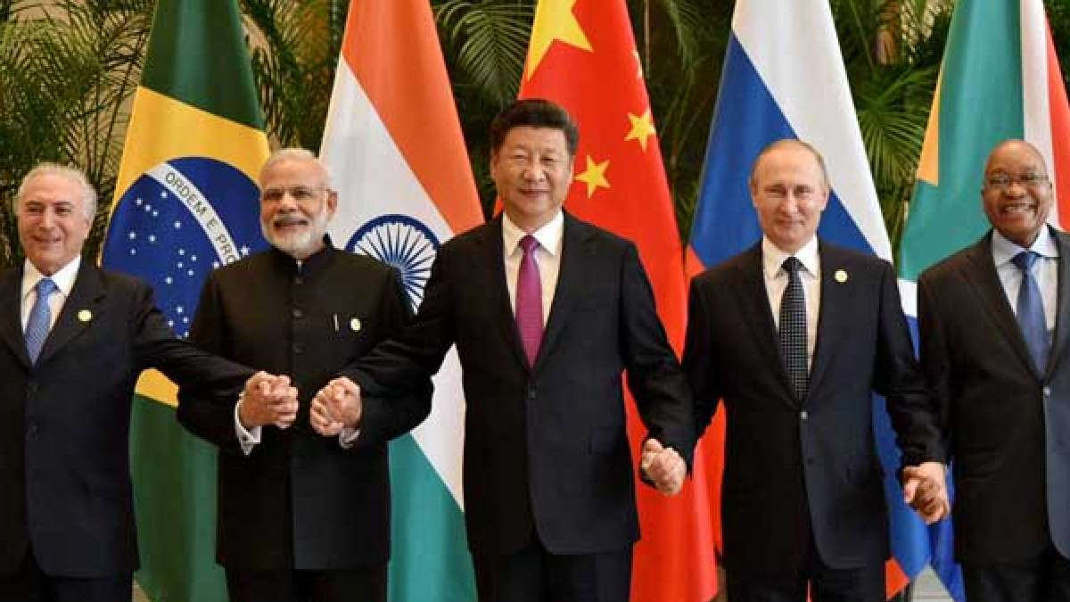 The image showing leaders of 5 nations from BRICS was tweeted by Prime Minister Narendra Modi