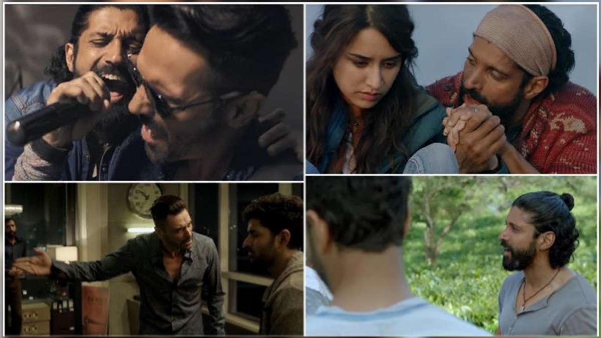Screengrabs from Rock On 2 trailer starring Farhan Akhtar, Shraddha Kapoor, Purb Kohli and Arjun Rampal