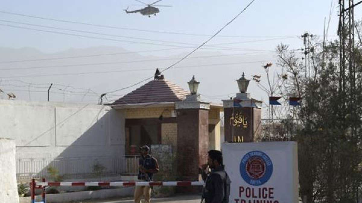 Quetta Police Training Institute which was attacked on Monday night by three gunmen