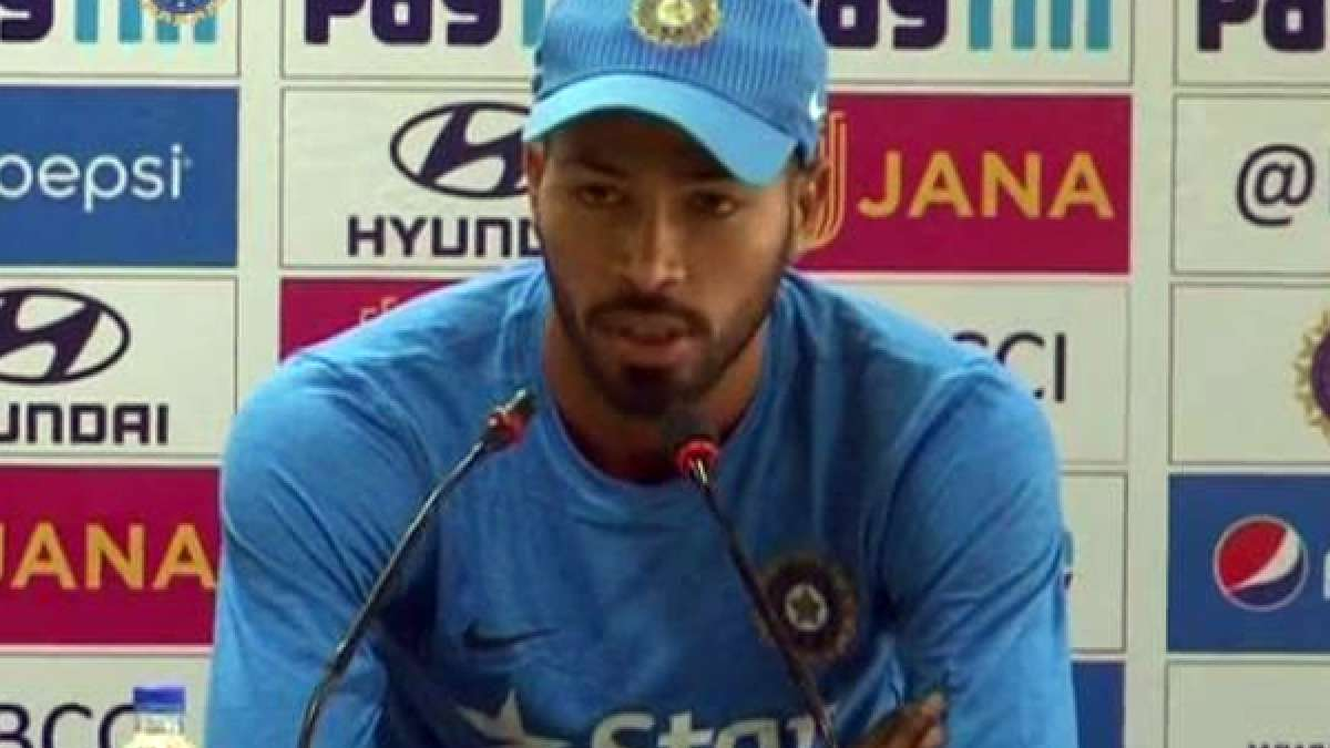 Indian all-rounder Hardik Pandya during press meet