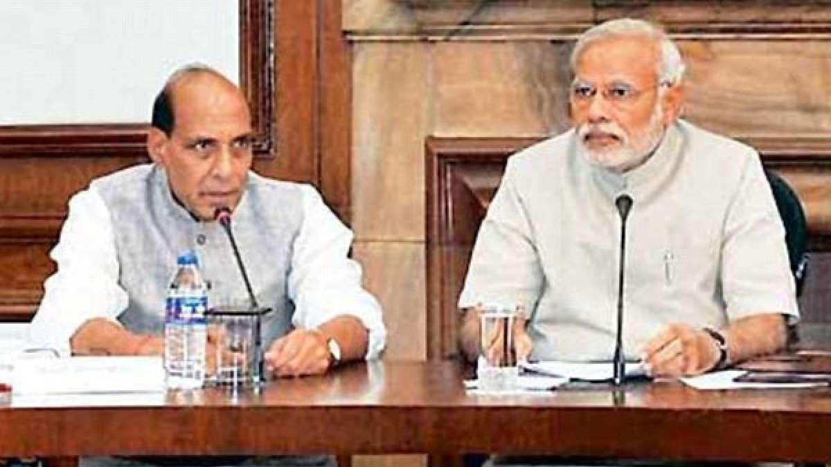 PM Narendra Modi with Home Minister Rajnath Singh