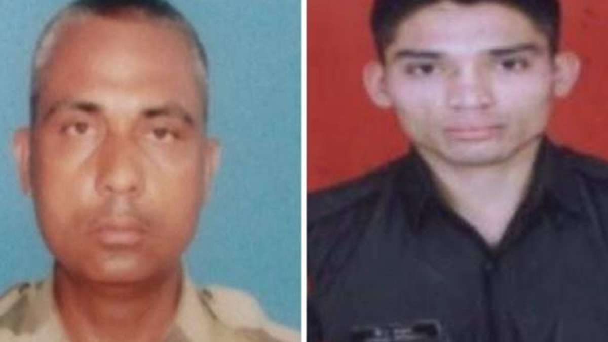 Indian soldiers Jitendra and Sandeep Rawat