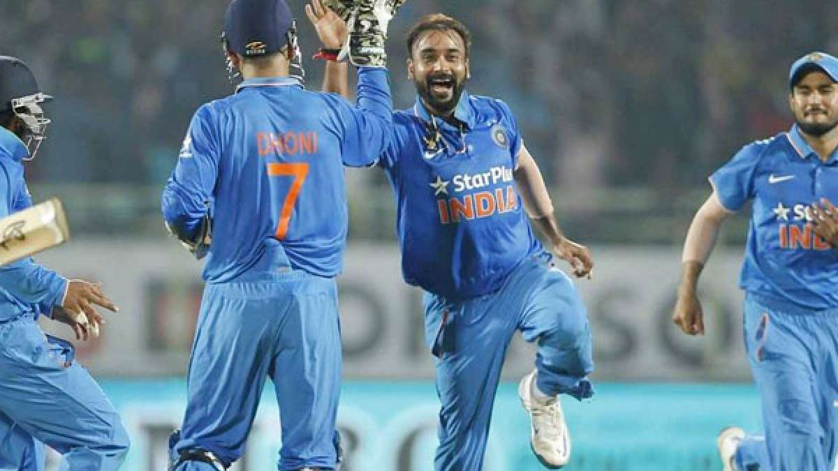 Indian bowler Amit Mishra during last ODI-match against New Zealand