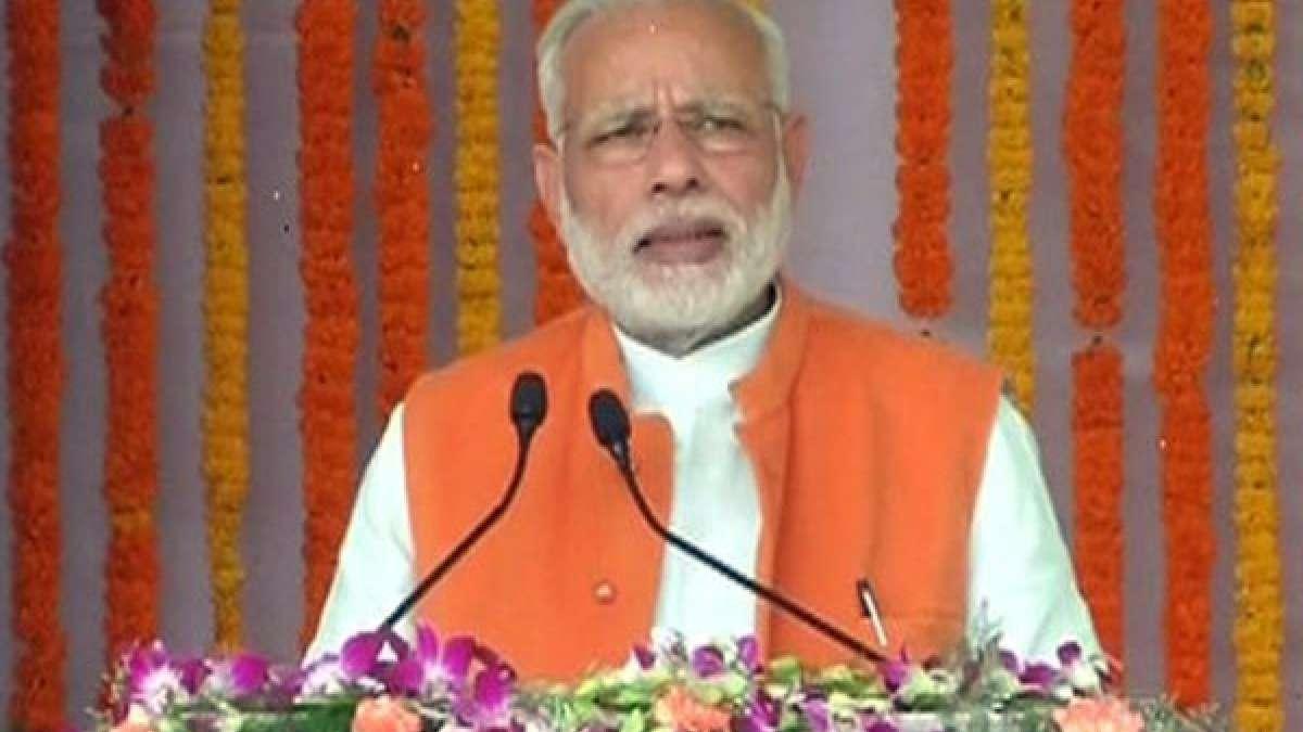 Prime Minister Narendra Modi during Ghazipur rally