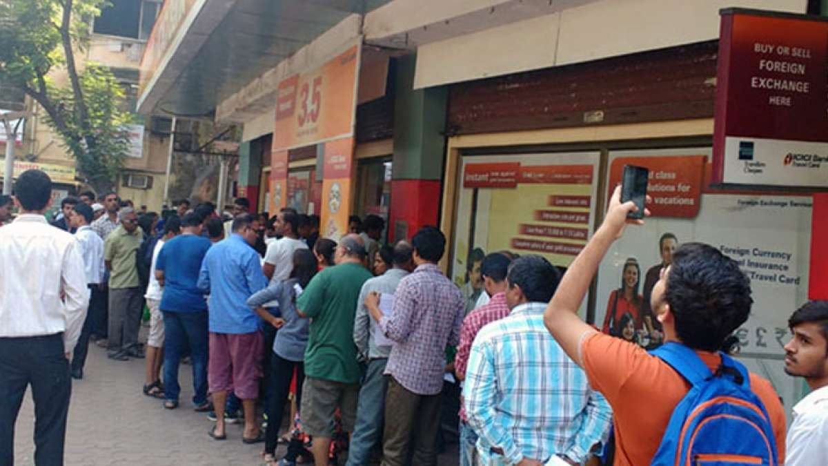 Queues outside banks, ATMs a serious issue