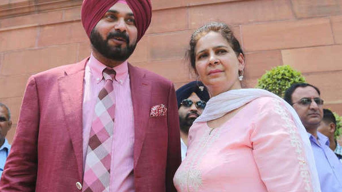 Navjot Singh Sidhu with his wife Navjot Kaur Sidhu